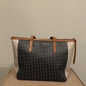 Fossil Bags - Fossil Sydney Shopper Tote - Black and White Dots